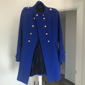 Gorgeous bright royal blue military style jacket